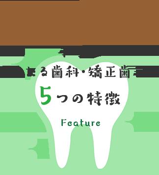 本厚木 あいたる歯科・矯正歯科の 5つの特徴